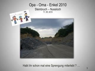 Opa - Oma - Enkel 2010 Steinbruch – Nussloch   11. 08. 2010