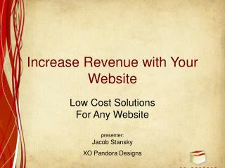 Increase Revenue with Your Website