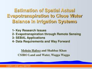 Estimation of Spatial Actual Evapotranspiration to Close Water Balance in Irrigation Systems