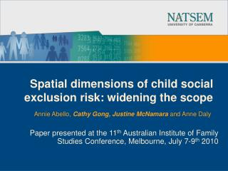 Spatial dimensions of child social exclusion risk: widening the scope