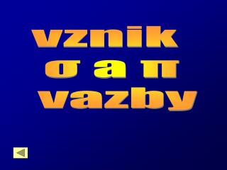 vznik   σ a π  vazby