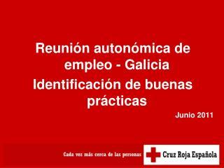 Reunión autonómica de empleo - Galicia Identificación de buenas prácticas Junio 2011