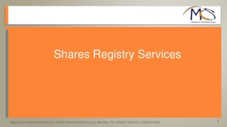 Shares Registry Services