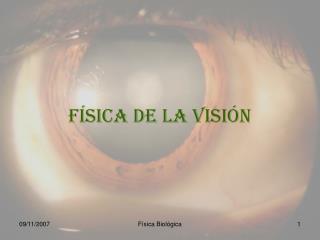 FÍSICA de la visión