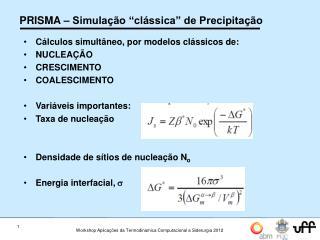 """PRISMA – Simulação """"clássica"""" de Precipitação"""