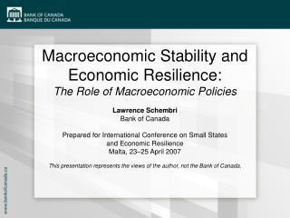Macroeconomic Stability and Economic Resilience: The Role of Macroeconomic Policies