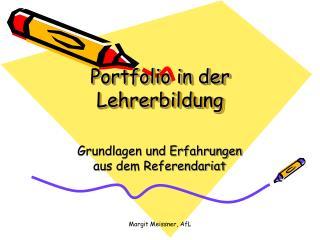 Portfolio in der Lehrerbildung