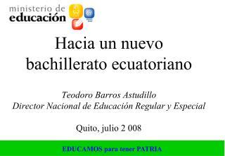 REVOLUCIÓN CIUDADANA REVOLUCIÓN EDUCATIVA CENTRO: LO SOCIAL ERRADICACIÓN DE BARRERAS DE ACCESO
