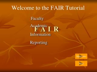 Welcome to the FAIR Tutorial