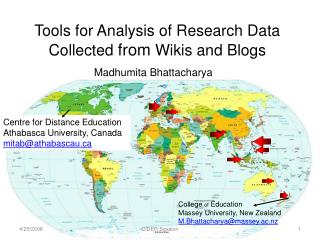 Tools  for Analysis of Research Data Collected  from  Wikis and  Blogs