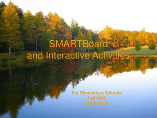 SMARTBoard and Interactive Activities