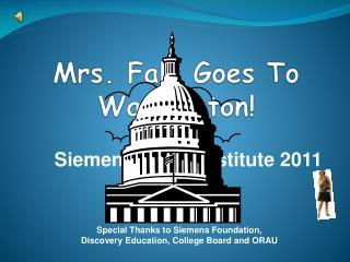 Mrs. Falk Goes To Washington!