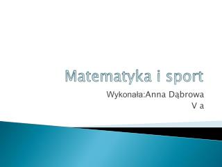 Matematyka i sport
