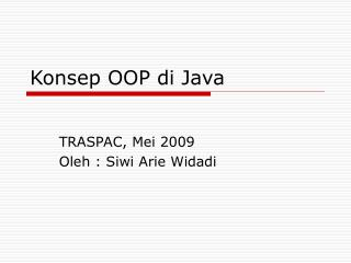 Konsep OOP di Java