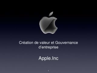 Création de valeur et Gouvernance d'entreprise