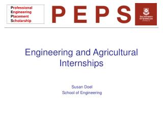 Engineering and Agricultural Internships