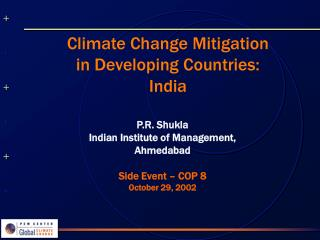 Climate Change Mitigation in Developing Countries: India