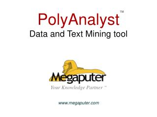 PolyAnalyst  Data and Text Mining tool Your Knowledge Partner TM megaputer