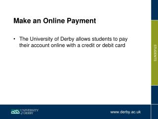 Make an Online Payment