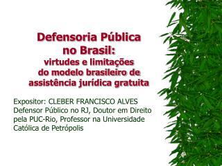 Defensoria Pública  no Brasil: virtudes e limitações