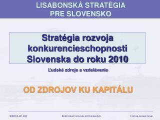 Stratégia rozvoja konkurencieschopnosti Slovenska do roku 2010