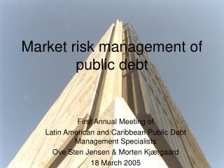 Market risk management of public debt