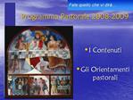 Programma Pastorale 2008-2009
