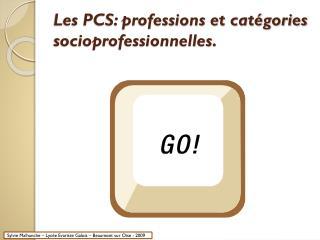 Les PCS: professions et catégories socioprofessionnelles.