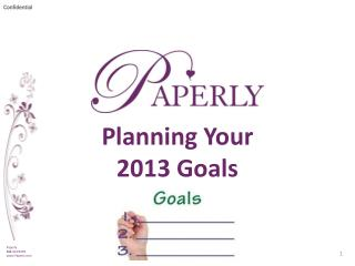 Planning Your 2013 Goals