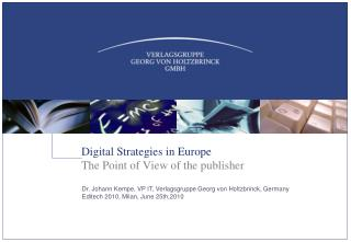 Digital Strategies in Europe
