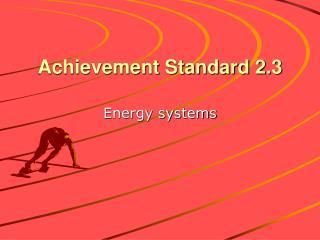 Achievement Standard 2.3