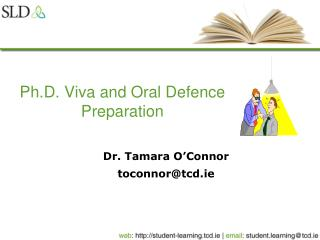 Ph.D. Viva and Oral Defence Preparation