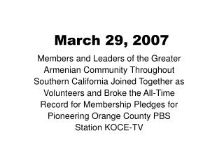 March 29, 2007