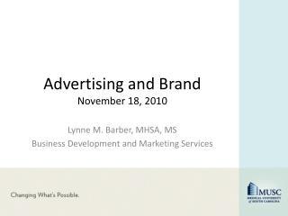 Advertising and Brand November 18, 2010