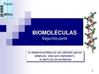 BIOMOLÉCULAS Segunda parte