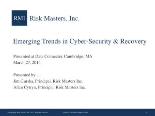 Emerging Trends in Cyber-Security & Recovery