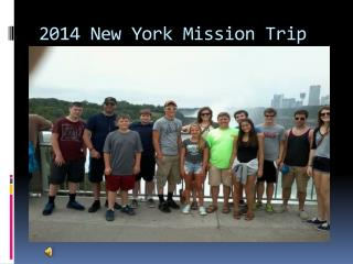 2014 New York Mission Trip
