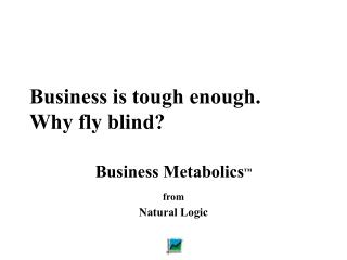 Business is tough enough. Why fly blind?