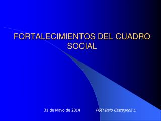 FORTALECIMIENTOS DEL CUADRO SOCIAL
