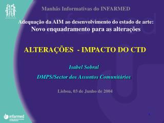 ALTERAÇÕES  - IMPACTO DO CTD