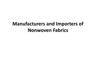 Needle Punch Fabrics manufacturers