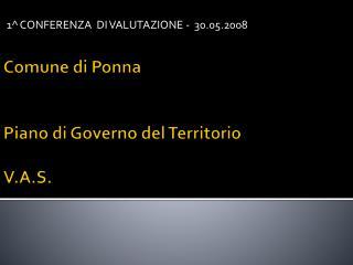 Comune di  Ponna Piano di Governo del Territorio V.A.S.