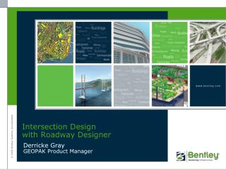 Intersection Design  with Roadway Designer
