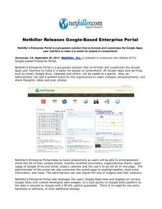 Netkiller Releases Google-Based Enterprise Portal