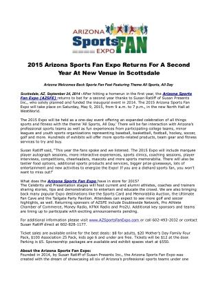 2015 Arizona Sports Fan Expo Returns For A Second Year At Ne