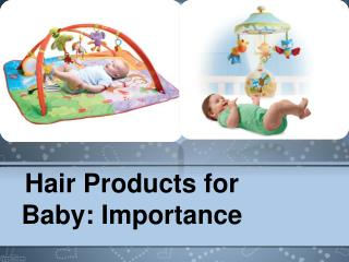 Hair Products for Baby