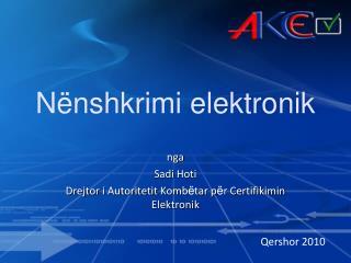 N nshkrimi elektronik