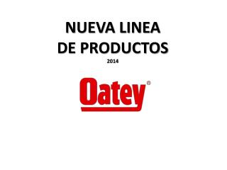 NUEVA LINEA  DE PRODUCTOS 2014