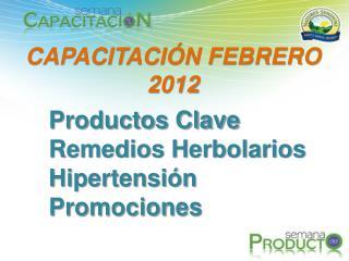 CAPACITACIÓN FEBRERO 2012