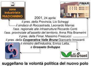 2001 , 24 aprile il pres. della Provincia,  Lio Scheggi